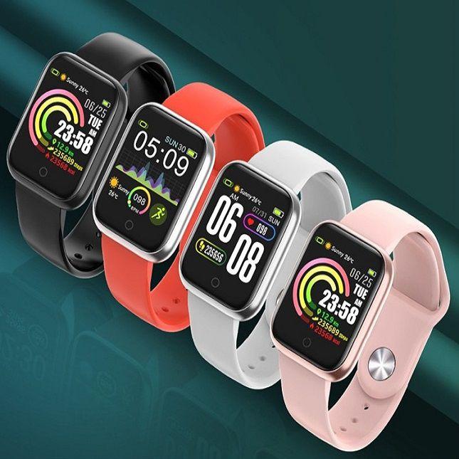 Smartwatch RBQW21 Saúde Esportes Redes Sociais Rosa