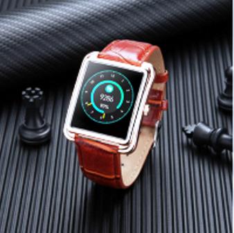 SmartWatch V60 Executivo Pulseira Metal Whats Face Instagram Dourado