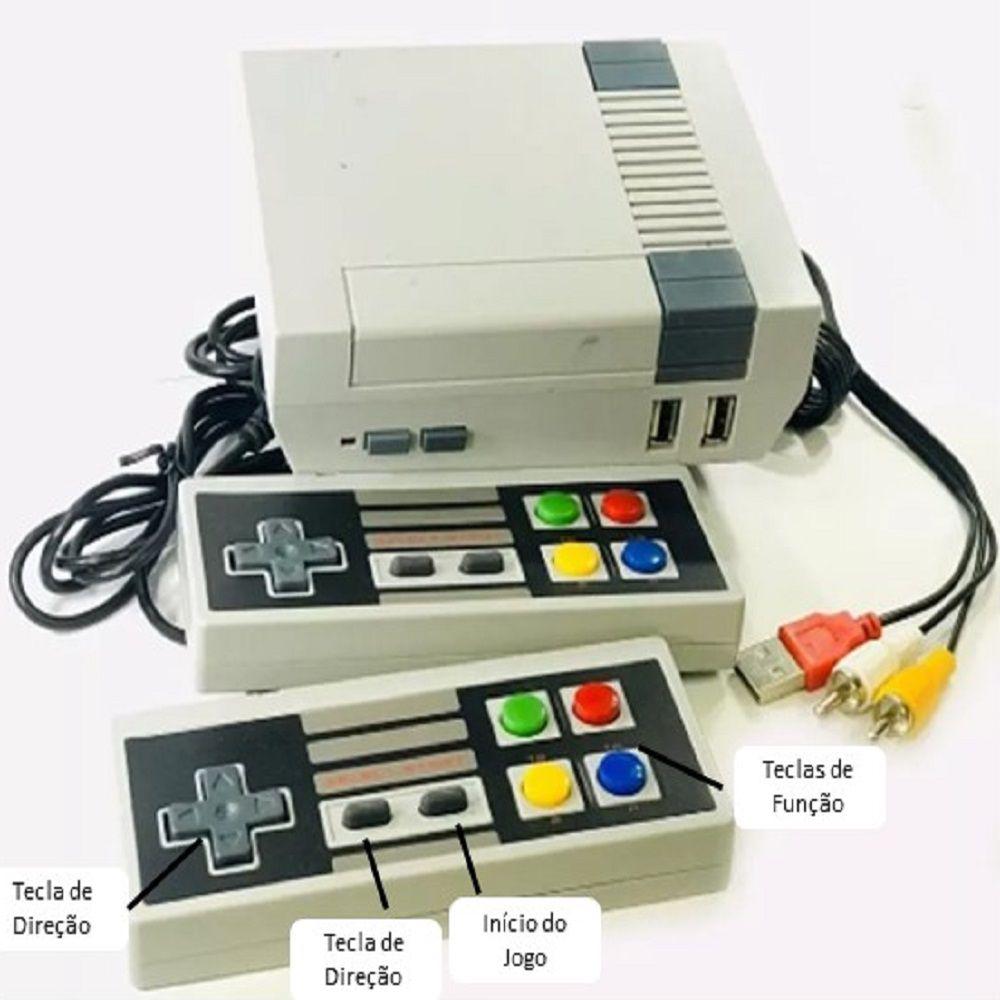Super Game Eony Retro Anos 80 com Jogos Clássicos 8bits e 2 Controles
