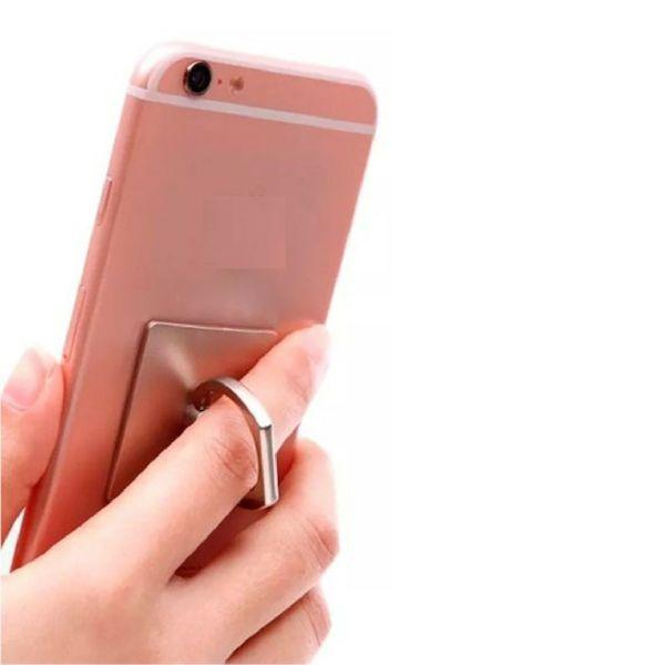 Suporte Anel Ring Branco Com Suporte Hook Para Smartphone