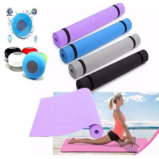 Tapete de Ginástica Yoga  + caixinha de som Bluetooth