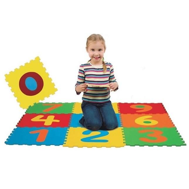 Tapetes Infantil Números Hora De Aprender 10 Peças 7mm