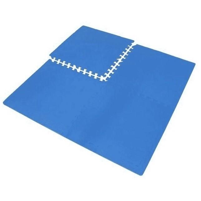 Tatame Treino Academia Criança EVA com 4 Placas Azul