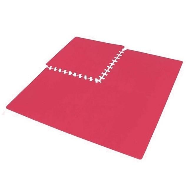 Tatame Treino Academia Criança EVA com 4 Placas Vermelho