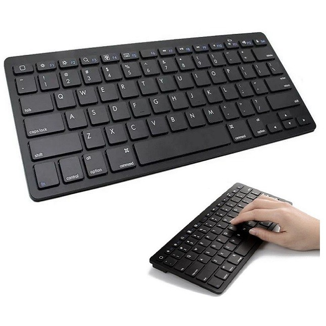 Teclado Bluetooth Slim Pc Tablet e Smartphone Preto