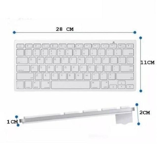 Teclado Bluetooth Ultra Slim Tablet PC Celular Notebook Bco