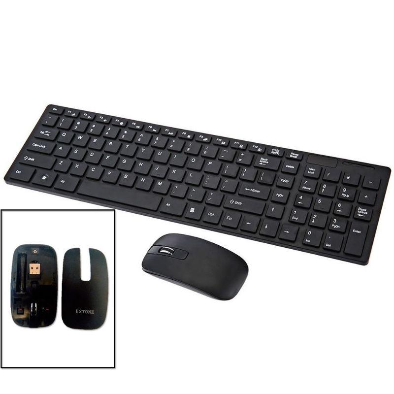 Kit Teclado e Mouse sem fio Stone Preto 2.4G