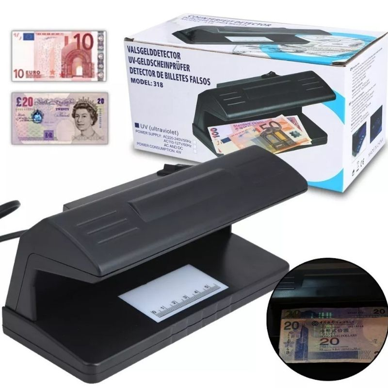 Testador Leitor De Cédula Dinheiro Real Dolar Nota Falsa FULL