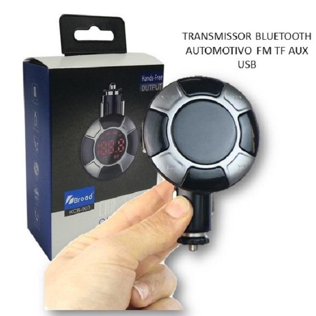 Transmissor FM Carro Caminhão Ônibus Bluetooth TF USB