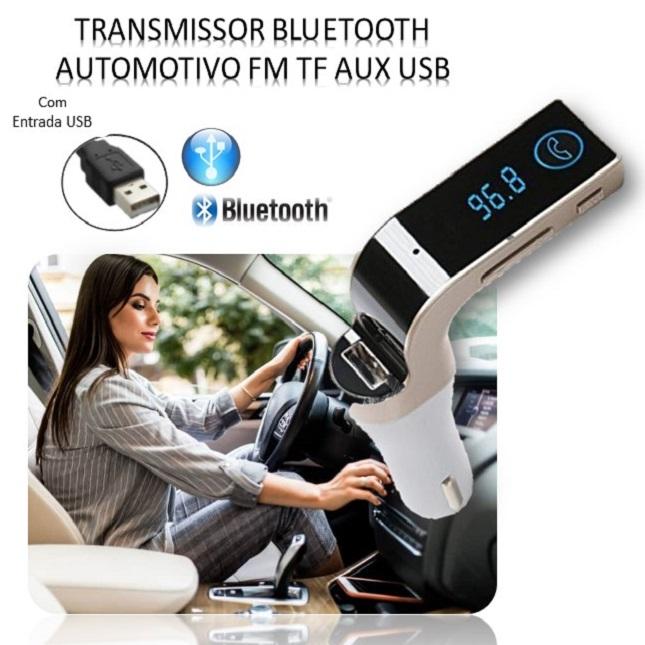 Transmissor Veicular Digital Fm Bluetooth Usb Carro Caminhão G7