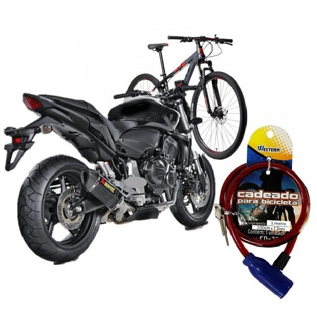 Trava Cadeado Moto Bicicleta Universal Antifurto