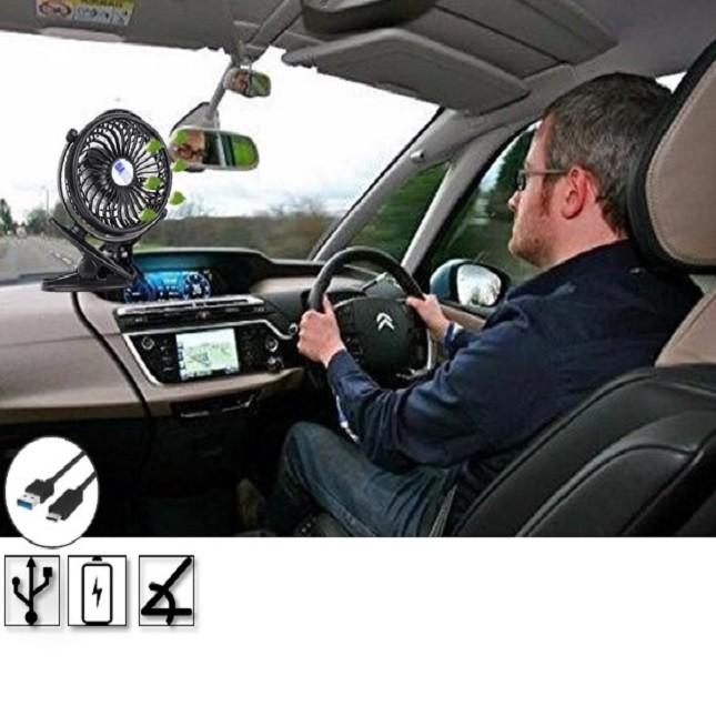 Ventilador de Ar Portátil Mini Carros Casa Escritório Usb