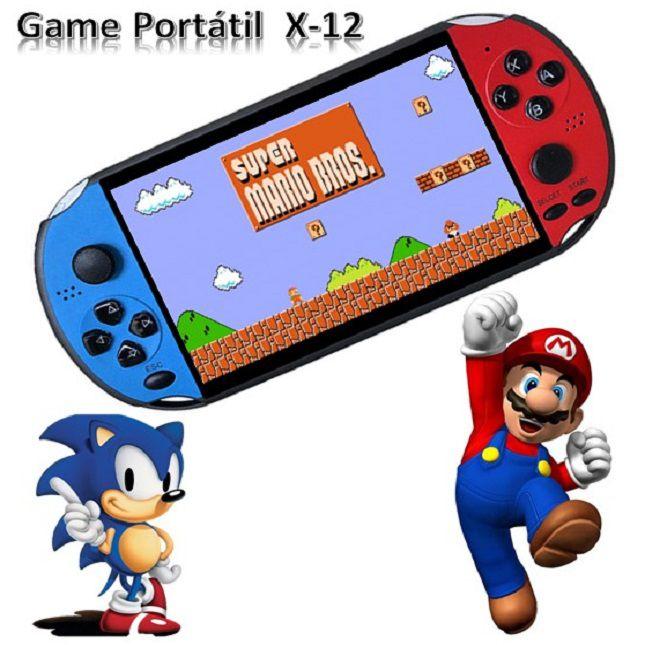 Vídeo Game Portátil Console X-12 PLUS jogos de GBA FC NES