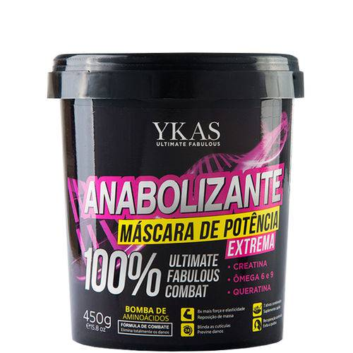 Ykas Anabolizante Capilar Máscara Potência Extrema 450g