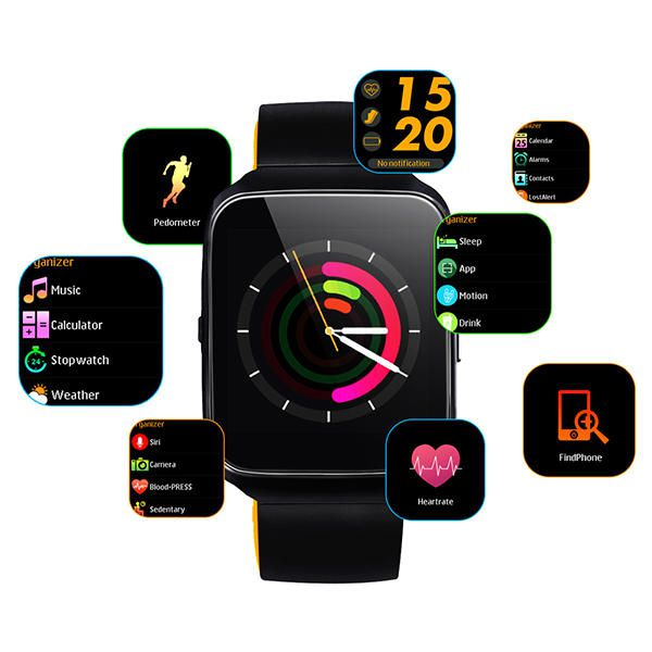 Z40 Relógio Smartband Inteligente Smart Watch Bluetooth Android S7 Preto