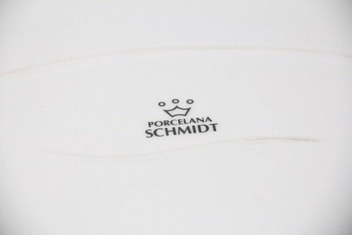 Prato De Porcelana Schmidt Branco 25 X 17 - I210