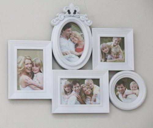 Porta Retrato Família Em Resina 5 Fotos