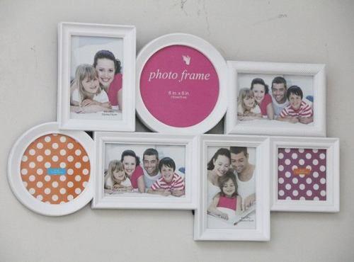 Porta Retrato Família Em Resina 4 Fotos