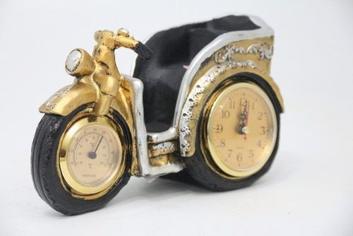 Relógio Decorativo De Metal 15x25x10- F610