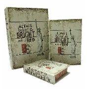 Caixa Livro Decorativa, Porta Objetos Nova York - 3 Peças