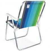 Cadeira Alta Alumínio Azul - Mor