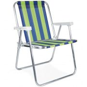 Cadeira Alta Alumínio Listrada - Mor