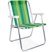 Cadeira Alta Alumínio Verde - Mor