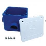 Caixa de Passagem Azul Tampa Plástica Sem prolongador Pooltec
