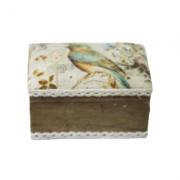 Caixa Porta Joia Decorativa Em Madeira 6 X 11 - S884