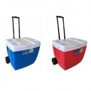 Caixa Térmica Cooler 42 Litros Com Alça e Porta Copos Bebidas Lanchas Cerveja - Mor