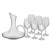 Conjunto de Decanter de 1,5 L e taças de vinho tinto de 450 ml