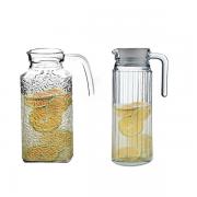 Conjunto de Jarra Água Sucos Refrescos Refrigerantes em Vidro Com Tampa 1800ML