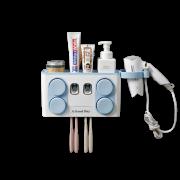 Dispenser multifuncional para pasta de Dente Com Porta Escava e com Porta Secado