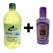 Essência Eucalipto 1 litro Para Sauna + 1 Aromatizante de Lavanda