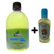 Essência Eucalipto 500 ML Para Sauna + 1 Aromatizante de Ambiente Talco Baby de 140 ML