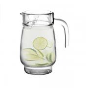 Jarra Água Sucos Refrescos Refrigerantes em Vidro Com Tampa 1200ML
