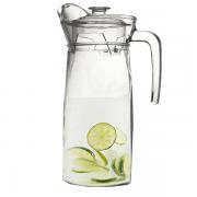 Jarra Água Sucos Refrescos Refrigerantes em Vidro Com Tampa 1500ML