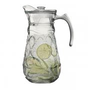 Jarra Água Sucos Refrescos Refrigerantes em Vidro Resistente Com Tampa  1800ML
