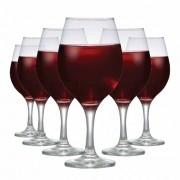 Jogo de Taça De Vinho em Vidro 500ml 6 Peças