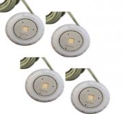 "KIT 4 unidades Refletor Tecno Mini Square Led 10w em ABS Com Rosca 1/2"""