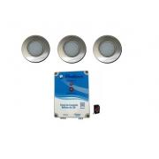kit de iluminação de piscina com 3 led + comando Pooltec