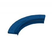 Perfil plástico curvo 10 cm p/ Vinil - Sodramar