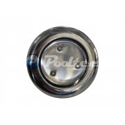 "Refletor Azul  Mini Steel Super Led 3 Inox com Rosca 1/2"""