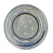"Refletor RGB Steel Super Led 6 Inox com Plug 1/2"" Pooltec"