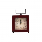 Relógio  de Mesa em Metal  Decorativo 25 x 20 - F391