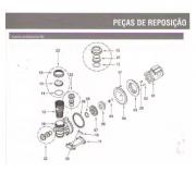 Selo mecanico 3/4 mola curta + anel de vedação da voluta