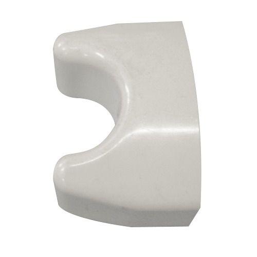 Ponteira Plástica Branca Para Degrau Inox Anatômico Sodramar