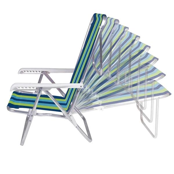 2 Cadeira Reclinável 8 Posições + 1 Mesinha Portátil - Mor