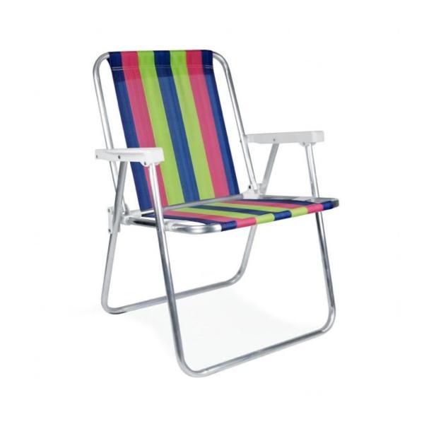 2 Cadeiras Alta em Alumínio  + 1 Mesinha + 1 Guarda Sol - Mor