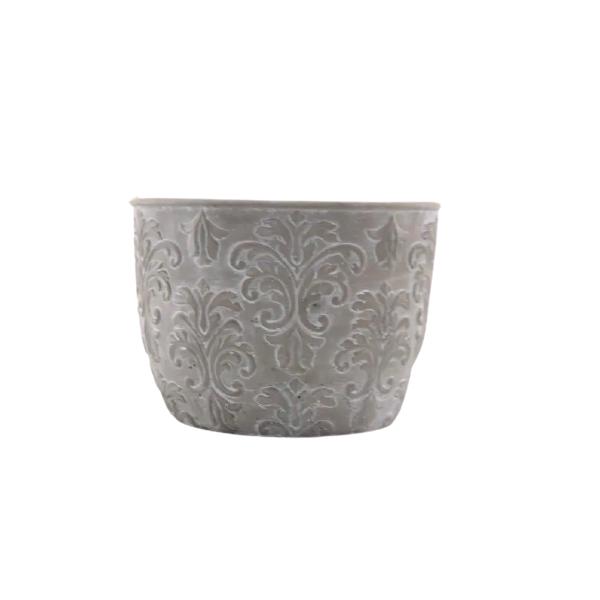 2 unidades do  Vaso Cachepot de Cimento GX32026-2